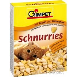 Gimpet Schnurries Витаминизированные сердечки с таурином и курицей для кошек (650шт)