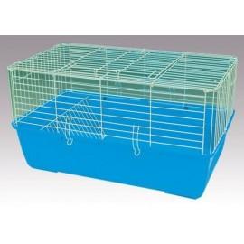 """R1F Клетка для кроликов, морских свинок и др., """"эмаль"""" , крашенная, зелёная, 60х36х40 см"""