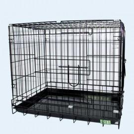 041C Клетка для собак металл, 61х44х50 см (Россия)