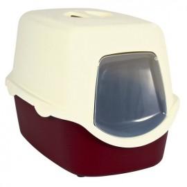 """40273 Туалет """"TRIXIE"""" для кошек """" Vico """", со сьемной крышей и дверью, бордово-кремовый, 40*40*56 см"""