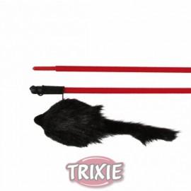 """4105 Дразнилка """"TRIXIE"""" для кошки с пушистой мышью, 50 см"""