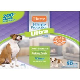 Впитывающие пеленки Hartz для щенков и взрослых собак, 53х53 см,50 шт