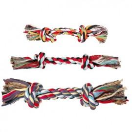 """3271 Игрушка """"TRIXIE"""" для собаки """"DENTAfun"""" в виде веревки с двумя узлами, хлопковая, 50г/20см"""