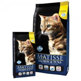 Для взрослых кошек лосось & тунец (рыба:лосось 10%, тунец 10%, рис 20%,куриное мясо) / MATISSE SALMON & TUNA