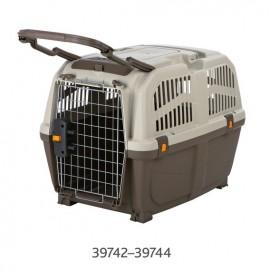 "39742 Переноска ""TRIXIE"" Skudo 4 для животных до 30 кг 48х51х68см, тёмно-коричневая/песочная"