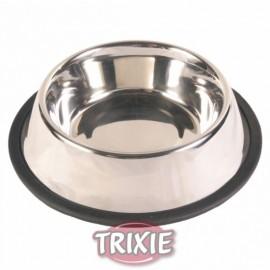 """24853 Миска """"TRIXIE"""" из нержавейки с резиновым ободом, 0.9л/диам.17см"""