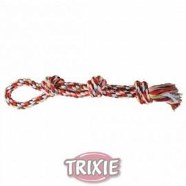"""3275 Игрушка """"TRIXIE"""" для собаки """"DENTAfun"""" в виде веревки с тремя узлами, хлопковая, 500г/60см"""