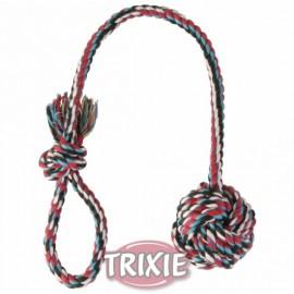 """3268 Игрушка """"TRIXIE"""" для собаки """"DENTAfun"""" в виде верёвки с узлом и ручкой 30см/5,5см"""