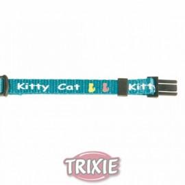 """4179 Ошейник """"TRIXIE"""", для котят, """"Kitty Cat"""" с рисунком, нейлон"""