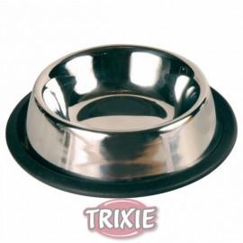 """2469 Миска """"TRIXIE"""", металлическая, для кошек с каучуковым кольцом 0,2л/диам.11см"""