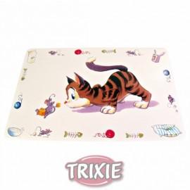 """24544 Коврик """"TRIXIE"""", под миску для еды """"Comic Cat"""", 44x28см"""