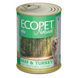 ECOPET NATURAL bicolore beef and turkey and vegetables / Кусочки в соусе с говядиной,индейкой и овощами, 1250г