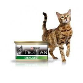 Консервы Pro Plan Sterilised - для кастрированных/стерилизованных кошек с лососем и тунцом (упаковка 24 штуки по 85 г)