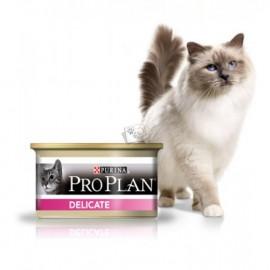 Консервы Pro Plan Delicate - для кошек с чувствительным пищеварением с индейкой (упаковка 24 штуки по 85 г)