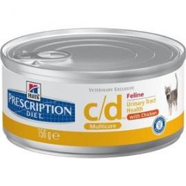 Консервы Hill's PD Feline c/d - для кошек для лечения мочевыводящих путей кошек, 185 г (упаковка 12 штук)