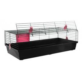 Клетка Voltrega 527 для кролика, черная, складная, 120x59x40 см