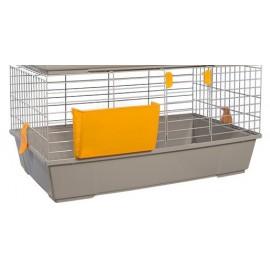 Клетка Voltrega 920 для кролика, серая, 80*46*39 см
