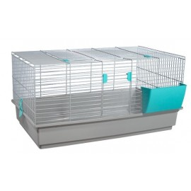 Клетка Voltrega 925 для кролика, серая, 90x52x46 см