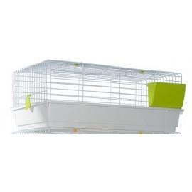 Клетка Voltrega 936 для кролика, белая, 101x55x40 см