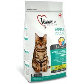 1st Choice Adult Weight Control - корм для кошек, склонных к полноте (цыплёнок)