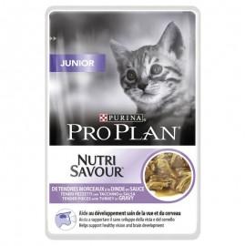 Пресервы Pro Plan NUTRI SAVOUR Junior - для котят с индейкой в соусе (упаковка 24 штуки по 85г)