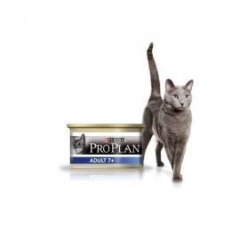 Консервы Pro Plan Adult+7 - мусс для пожилых кошек с тунцом (упаковка 24 штуки по 85 г)