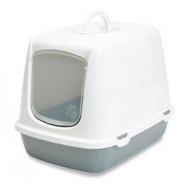"026500WG Туалет-домик ""SAVIC"" ""Oscar"" для кошек, 50х37х39см,светло-серый/серый, пластик"