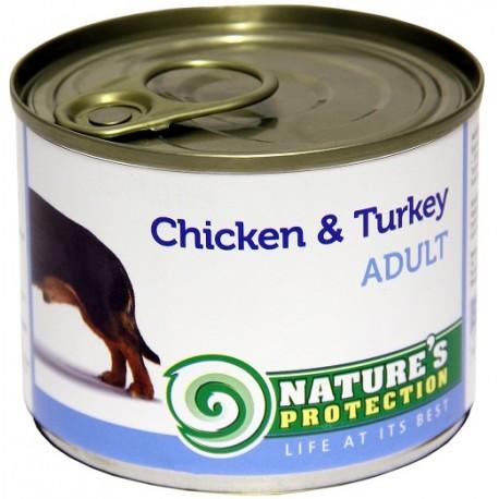 NP Dog Adult Chicken & Turkey - корм для взрослых собак с курицей и индейкой (упаковка 6 штук по 200г)