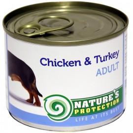 NP Dog Adult Chicken & Turkey - корм для взрослых собак с курицей и индейкой (упаковка 6 штук по 400г)