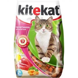 "Kitekat ""Аппетитная телятинка"" - сухой корм для взрослых кошек"