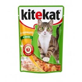 Пресервы Kitekat с курицей в желе (упаковка 24 штуки по 100г)