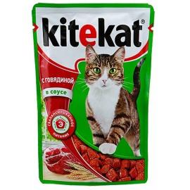 Пресервы Kitekat с говядиной в соусе (упаковка 24 штуки по 100г)