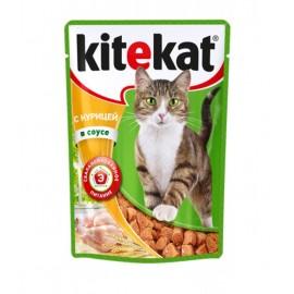 Пресервы Kitekat с курицей в соусе (упаковка 24 штуки по 100г)