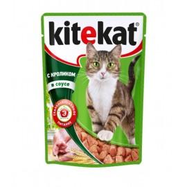 Пресервы Kitekat с кроликом в соусе (упаковка 24 штуки по 100г)