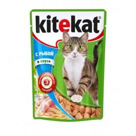 Пресервы Kitekat с рыбой в соусе (упаковка 24 штуки по 100г)