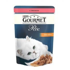 GOURMET Perle Лосось Мини-филе в подливке, для кошек (85 г)