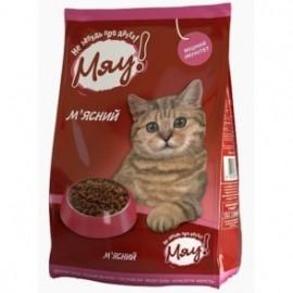 Мяу! сухой корм для кошек с мясом