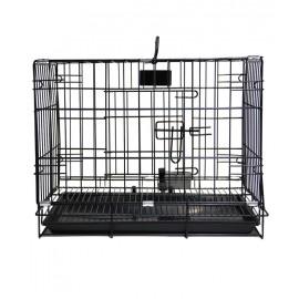 """Клетка для собаки """"Happy Pet"""" LEID-215MAJ, 61x43x50 cм, чёрного цвета"""