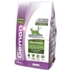 Gemon Cat Light/Sterility - низкокалорийный сухой корм для стерилизованных кошек с индейкой и рисом