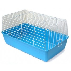 """R1 Клетка для кроликов, морских свинок и др., """"эмаль"""" , крашенная, 60х36х32 см"""