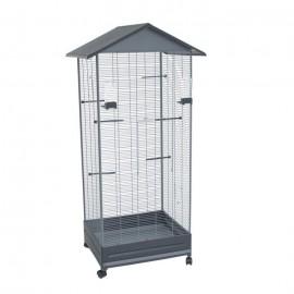 Вольер для птиц Voltrega 420, серый 65,5x54x150 см
