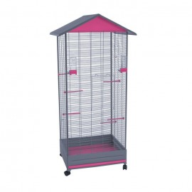 Вольер для птиц Voltrega 430, фиолетовый, 79x67,5x167 см