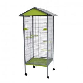 Вольер для птиц Voltrega 440, фисташковый, 78x47,5x155 см