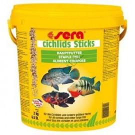 Sera Era Cichlids Sticks - основной корм в форме палочек для цихлид, 10л (2кг)