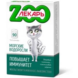 """Мультивитаминное лакомство """"ZООЛЕКАРЬ"""" """"Повышает иммунитет"""" с морскими водорослями для кошек, 90 табл."""