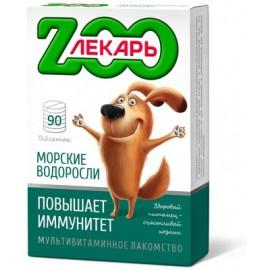 """Мультивитаминное лакомство """"ZООЛЕКАРЬ"""" """"Повышает иммунитет"""" с морскими водорослями для собак, 90 табл."""