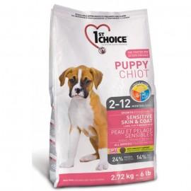 1st Choice Puppy Puppy Sensitive Skin & Coat - корм для щенков всех пород с чувствительной кожей и шерстью (ягненок и рыба)