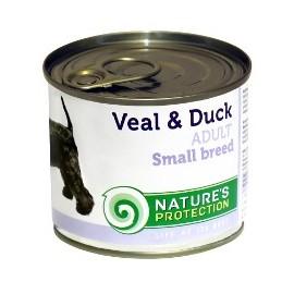 NP Dog Adult Small Breed Veal & Duck - корм c телятиной и уткой для взрослых собак маленьких пород (упаковка 6 штук по 400г)