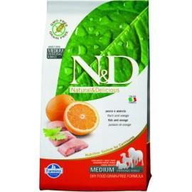 Рыба с апельсином / N&D DOG FISH & ORANGE ADULT