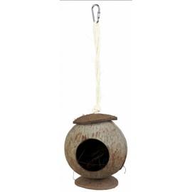 """6209 Домик """"TRIXIE"""" для грызунов, из кокосовой скорлупы, диам.13х31 см"""